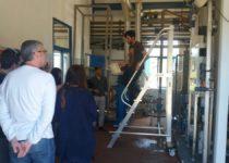 Visita de l'Institut Públic La Romànica a la Planta Pilot del Projecte LIFE SAVING-E