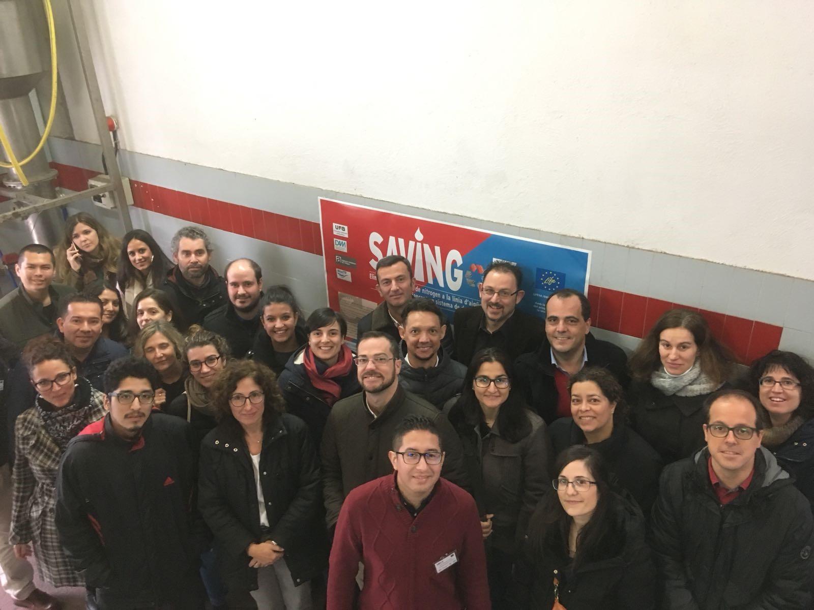 Participantes de la Winter School durante la visita a la Planta Piloto del Proyecto LIFE SAVING-E.